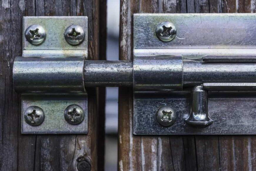 black bolt style gate latch