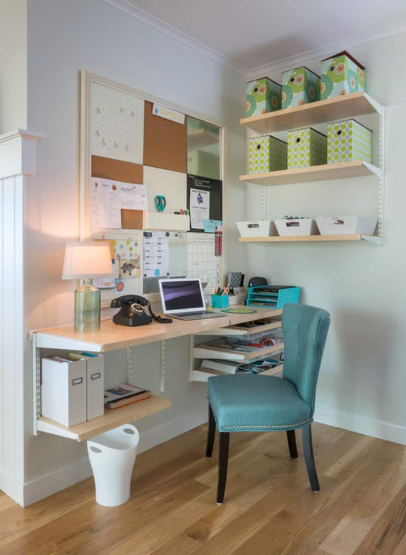 100 home offices with hardwood floors photos home for Home office design inspiration