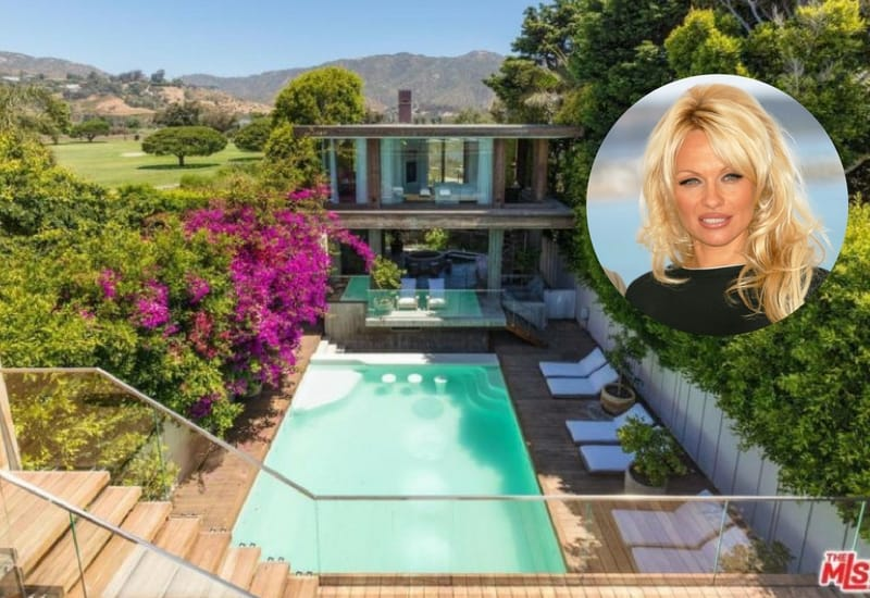 A breathtaking view of Pamela Anderson's house