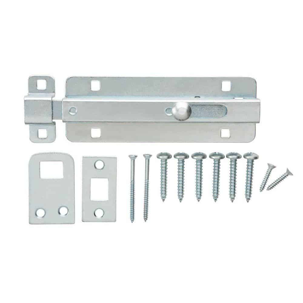 spring loaded gate latch with bolt