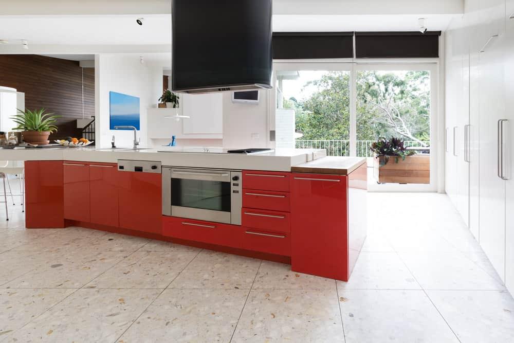 Kitchen with Terrazzo flooring