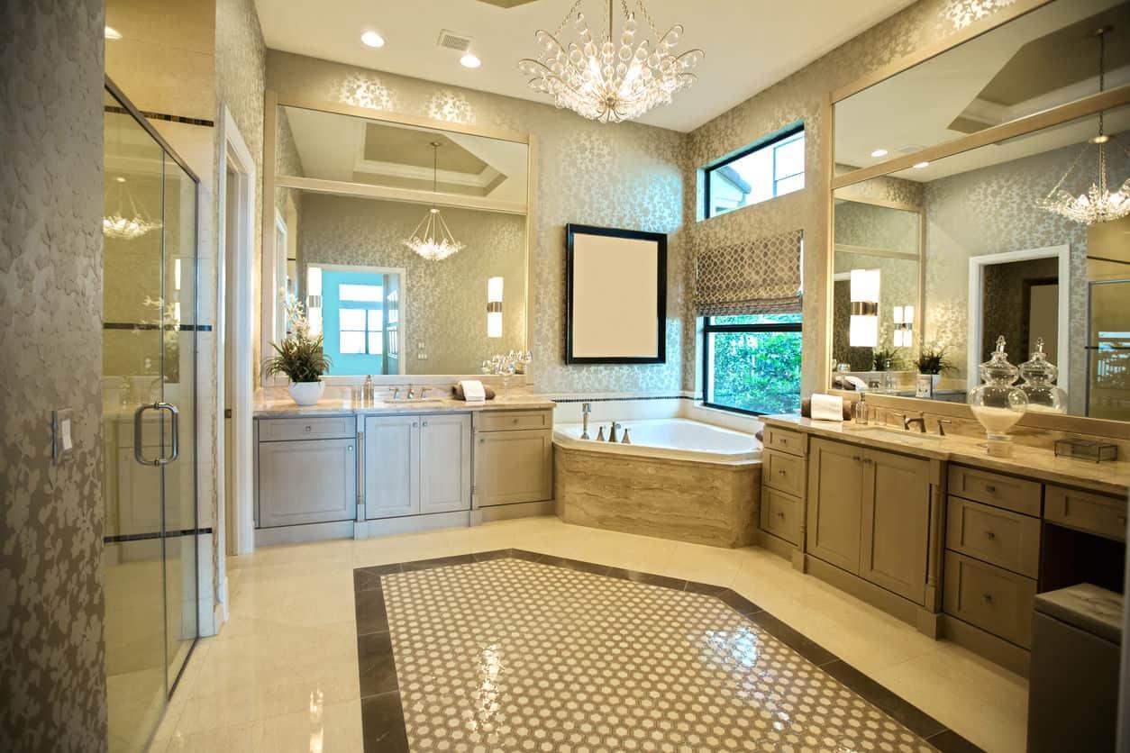 Corner built-in bathtub