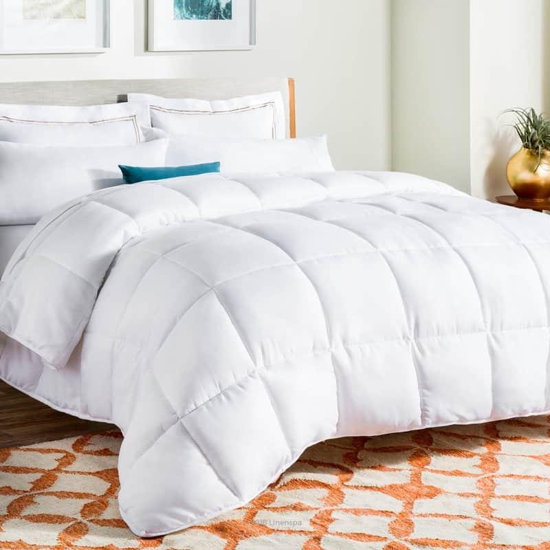 Down Alternative Comforter Linen Spa