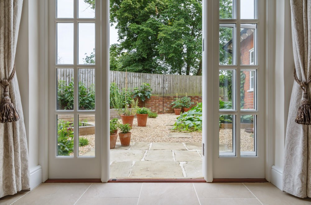 French Doors opening to patio