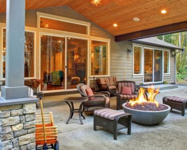 Pati idea with fireplace