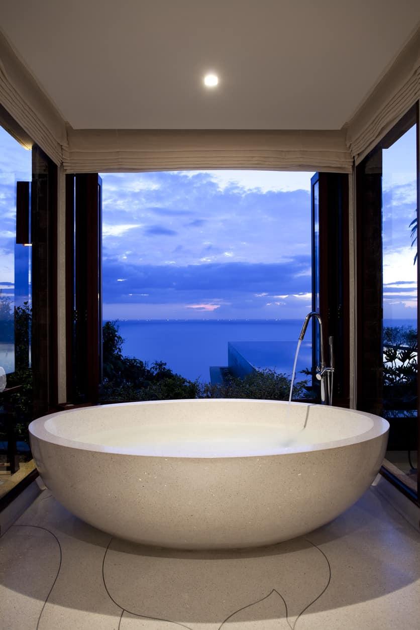 Large round soup bowl style bathtub