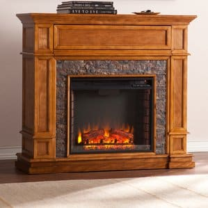 Valholl Simulated Stone Media Center Electric Fireplace