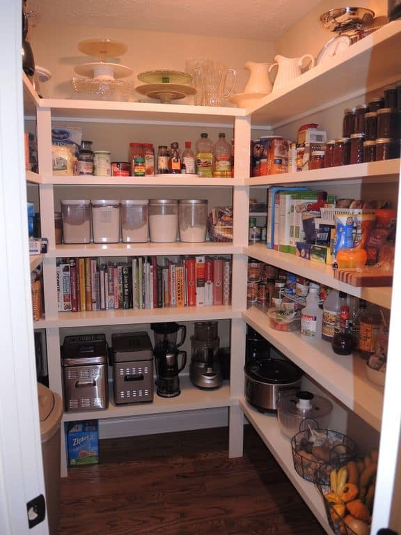 100 gorgeous walk in kitchen pantries for 2018 for How to build a walk in pantry