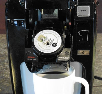 The K-Cup placement for the Keurig K10 Mini Plus