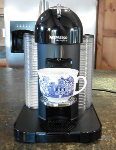Front view photo of the Nespresso VertuoLine Single Serve Coffee maker.