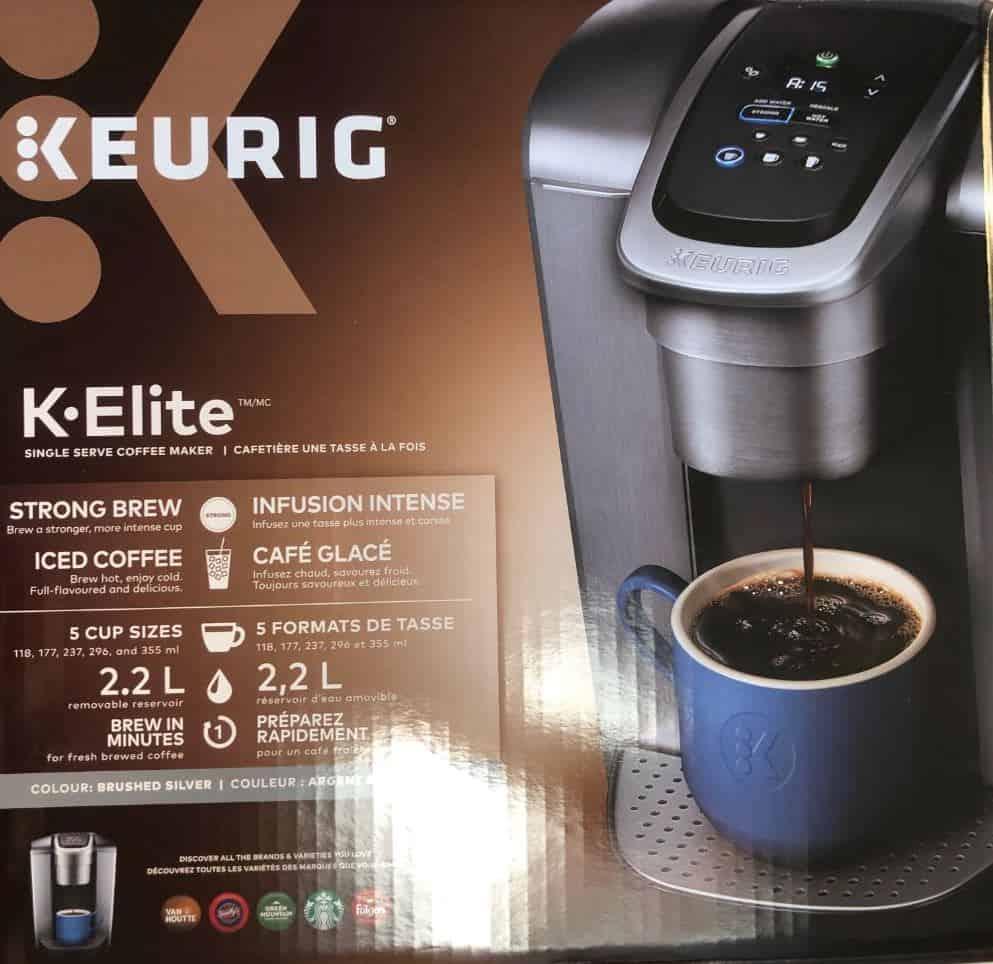 Photo of Keurig K-Elite box