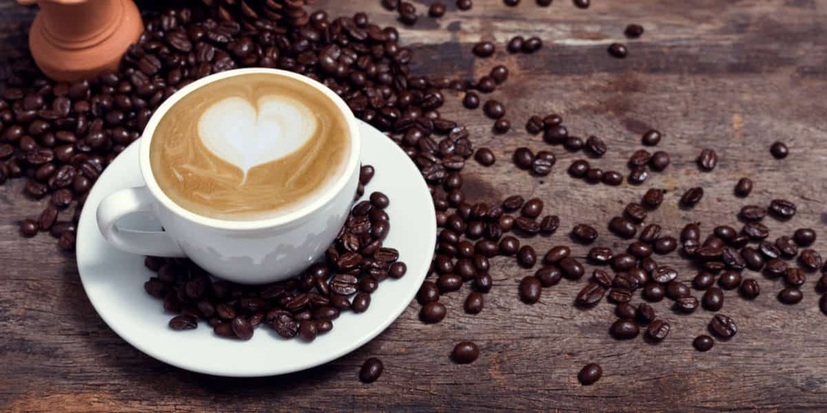 Beautiful cup of coffee brewed from single serve coffee maker
