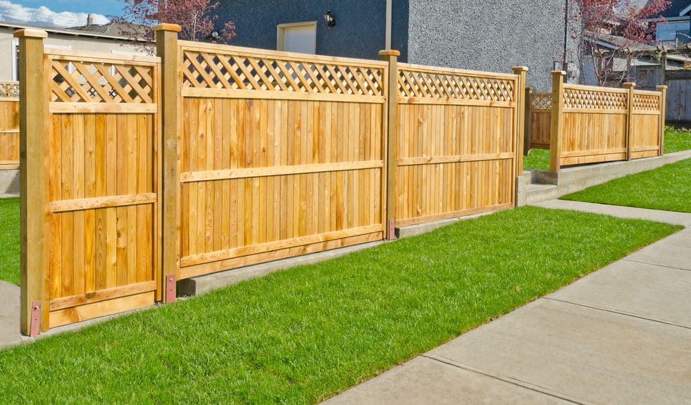 Example of a fence designed by software.