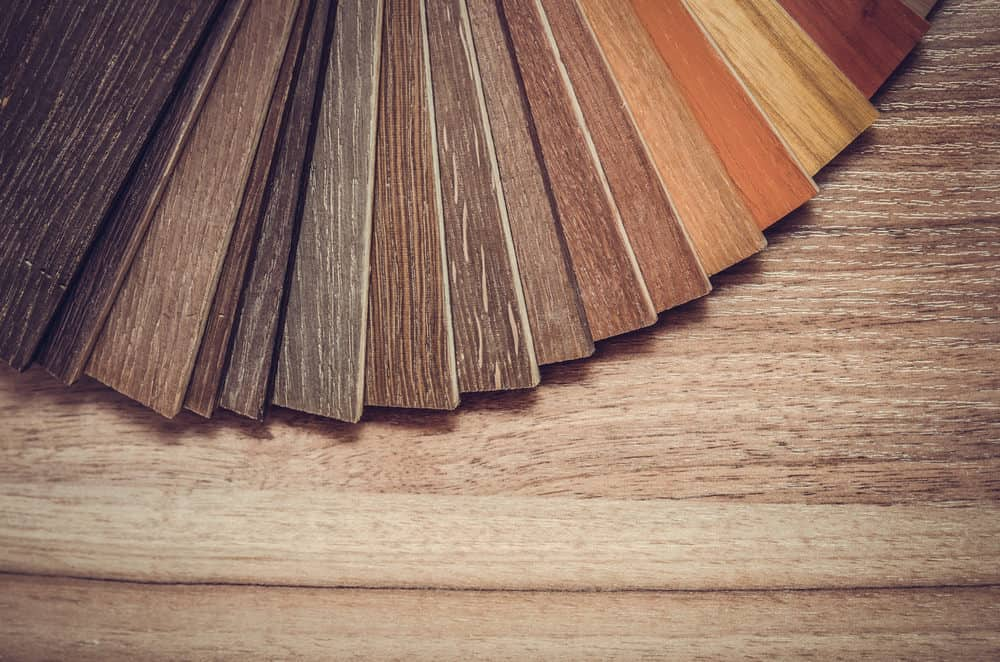 Different flooring types and colors.