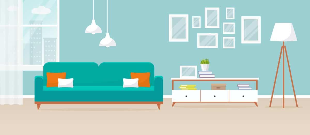 Home furniture illustration.