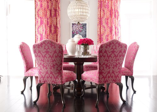 Pink Red Dining Room