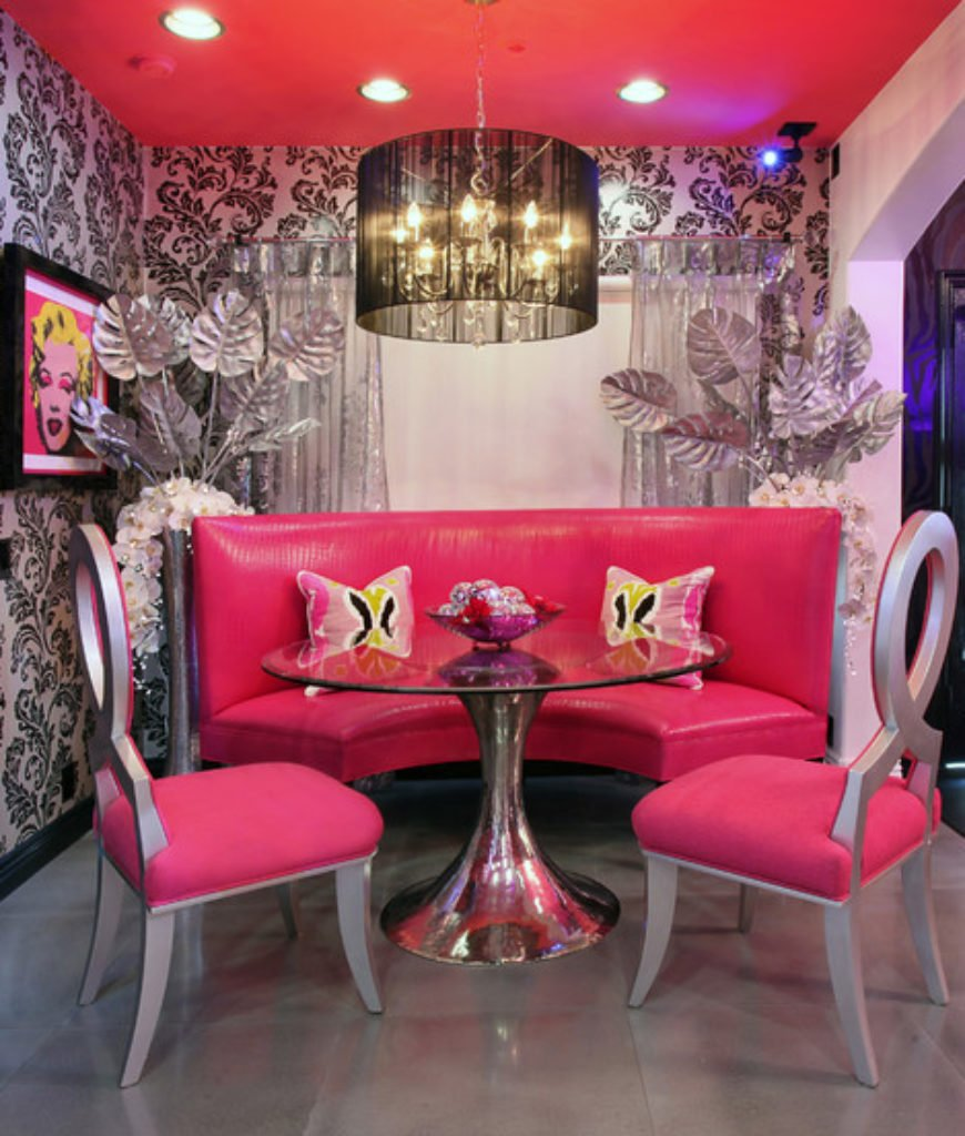 Pink Round Table.20 Pink Dining Room Ideas For 2019