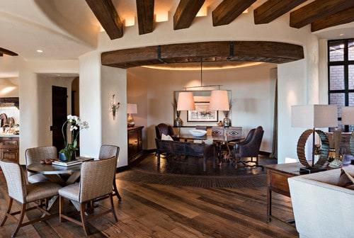 A Southwestern Design Dining Room Great Combo With White Walls