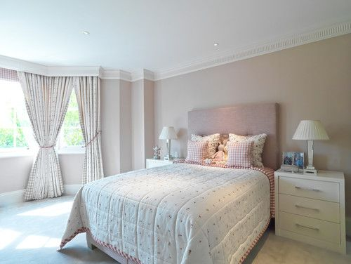 mid sized simple young girls bedroom with beige wallsphoto by helen ford design look for kids room design inspiration