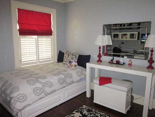 A Heavy Red Bedroom For Young Girls.Photo By Jessica C   Browse Kidsu0027 Room  Photos