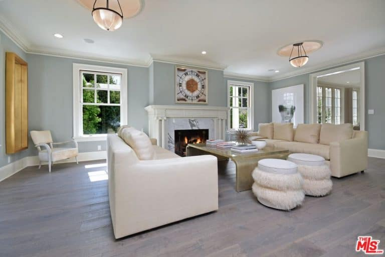 Kyle Richards And Mauricio Umanskyu0027s Huge Living Space Has Elegant Ceiling  Lights That Perfectly Suits The Coffered Ceiling.Source: Trulia Part 98