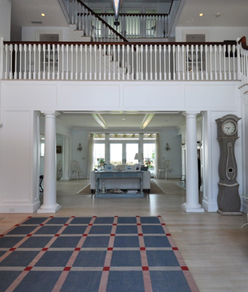 Katharine Hepburn's 8,400 square foot property encompasses three floors and this is the entry way.