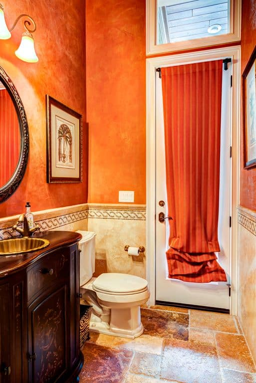Mediterranean Orange Master Bathroom