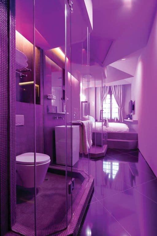 Blue And Purple Master Bathroom