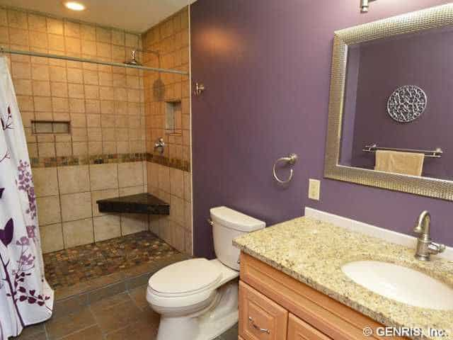 20 purple master bathroom ideas for 2018 for Bathroom ideas zillow