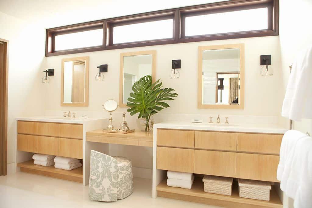 classic tropical master bathroom