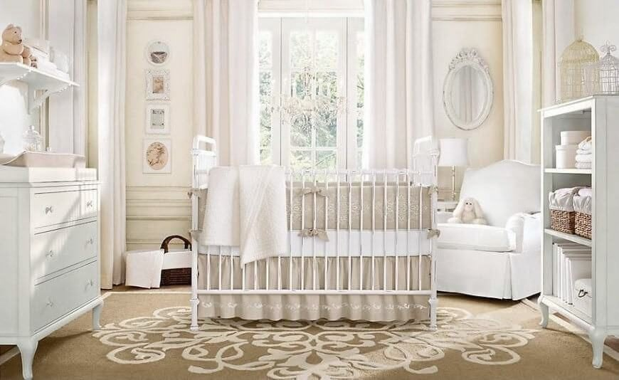 Beige Nursery With White Overtones