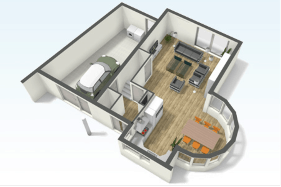 Example of 3D design by home planner. 16 Best Online Kitchen Design Software Options  Free   Paid