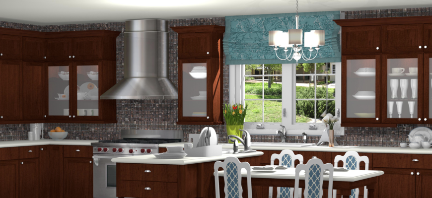 Beautiful virtual kitchen by ProKitchen software.