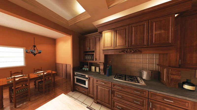 Rich Wood Kitchen Design With 2020 Kitchen Design Software. Part 45