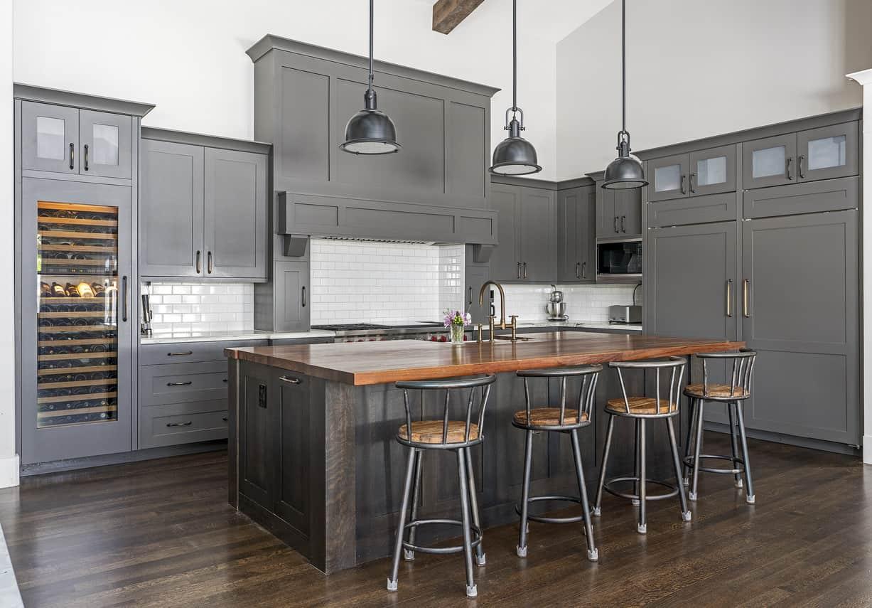 Kitchen with built-in wine storage