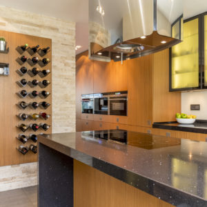 Kitchen with cool wine rack