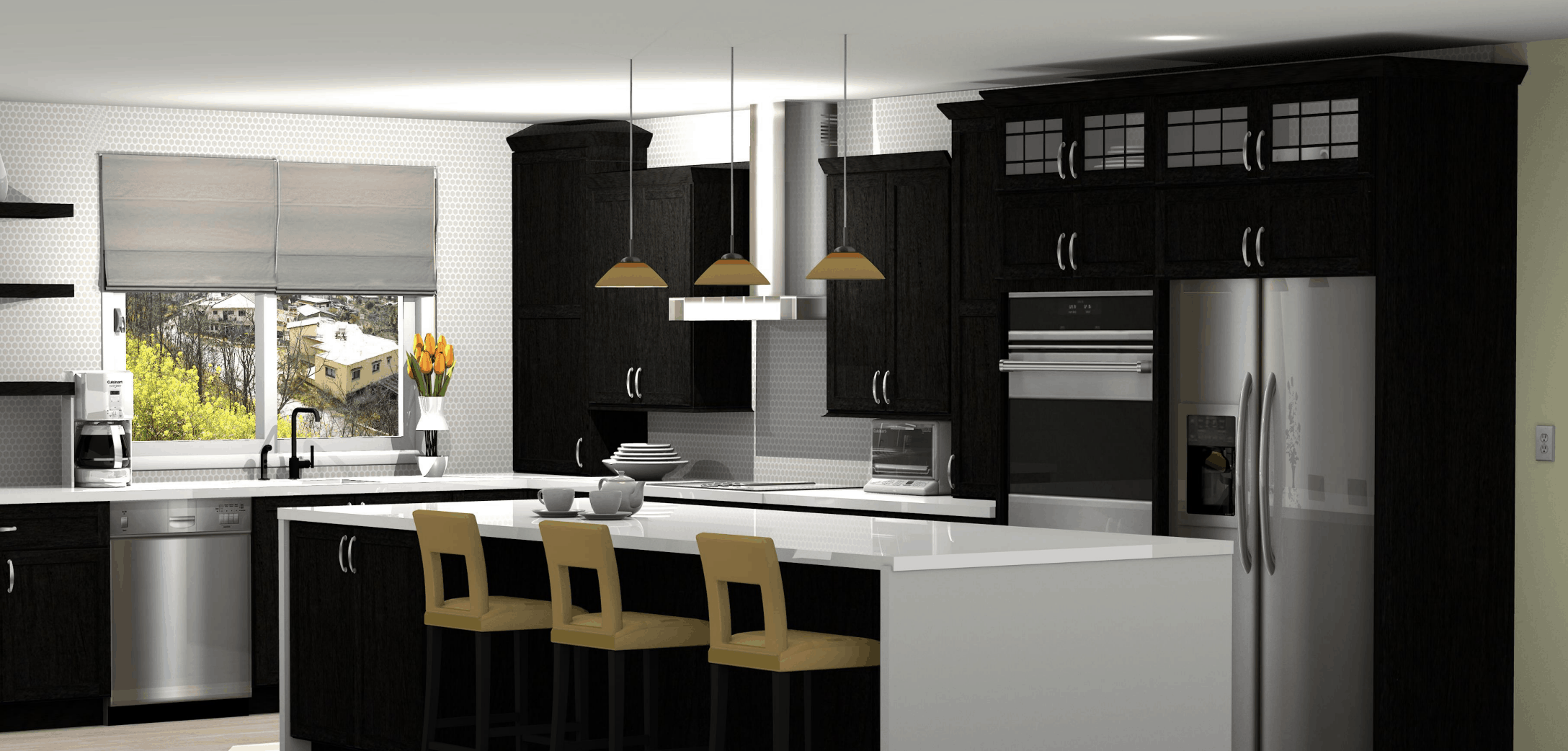 Rendering Of Modern Kitchen Design Using Prokitchen Software Interior Design Software Best Buy