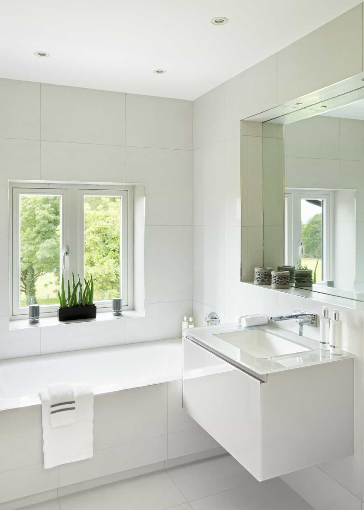 Scandinavian style master bathroom