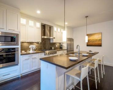 Single wall with island kitchen layout