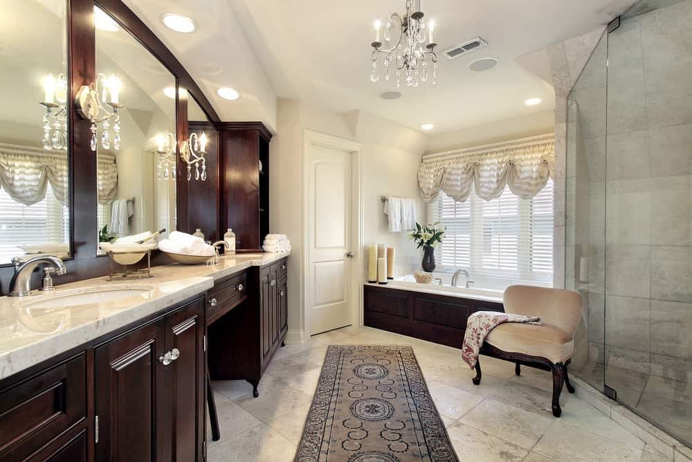 Victorian style master bathroom