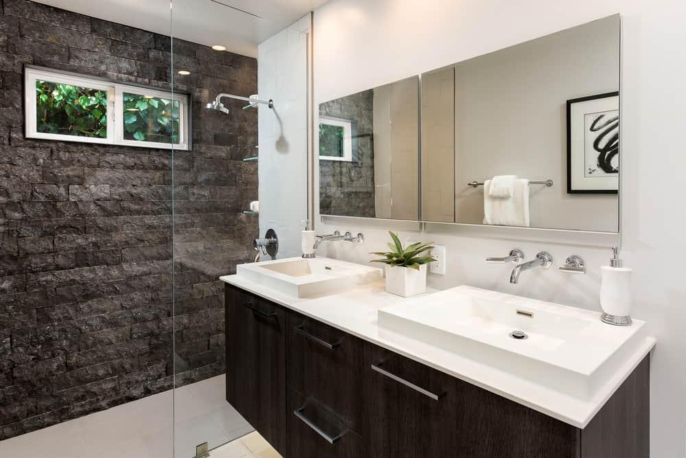 Modern bathroom colors.