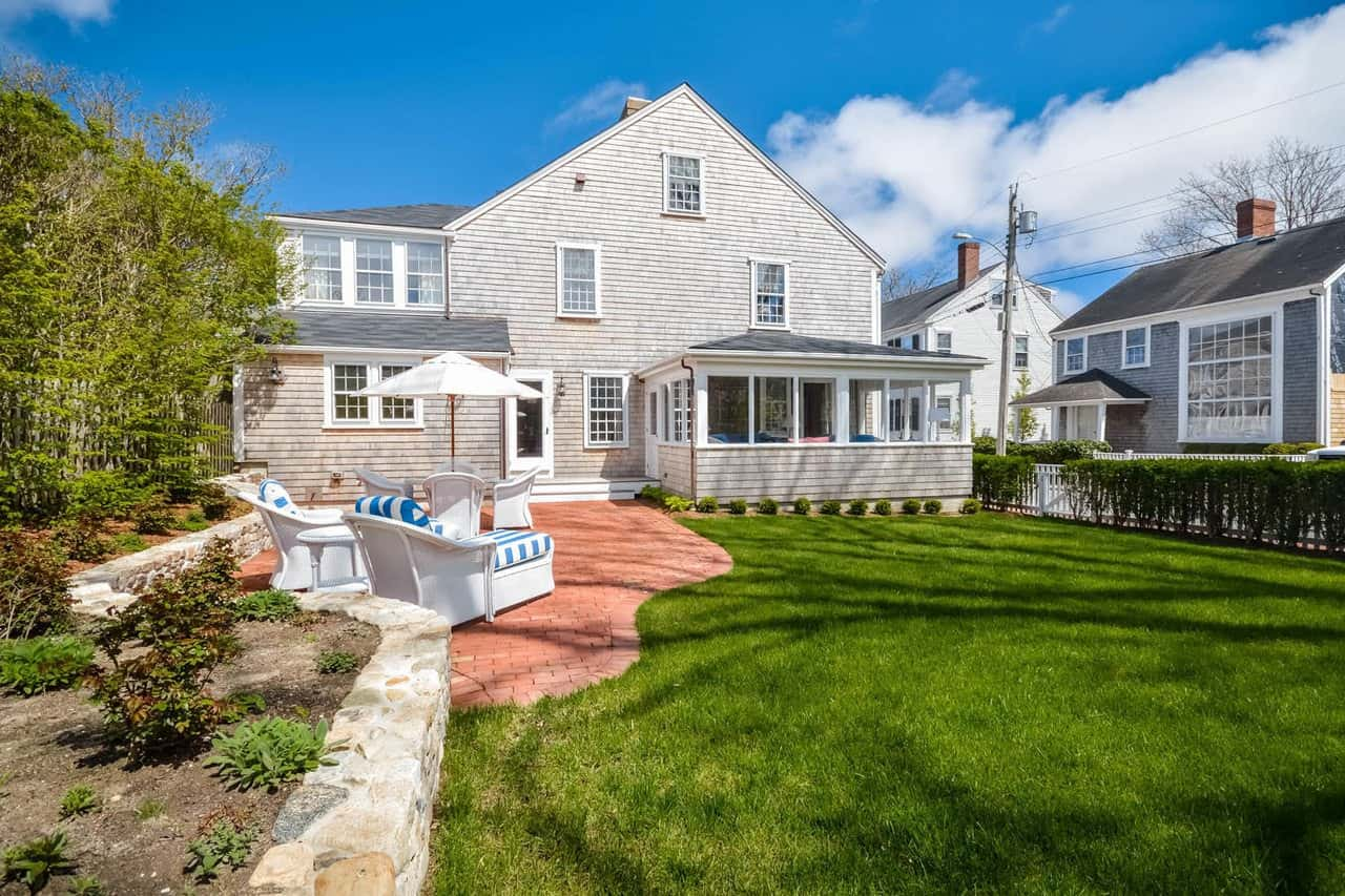 Tags: Colonial Style, Cottage Style Categories: Custom Home Designs Quaint Nantucket Timber Frame Colonial House circa 1735