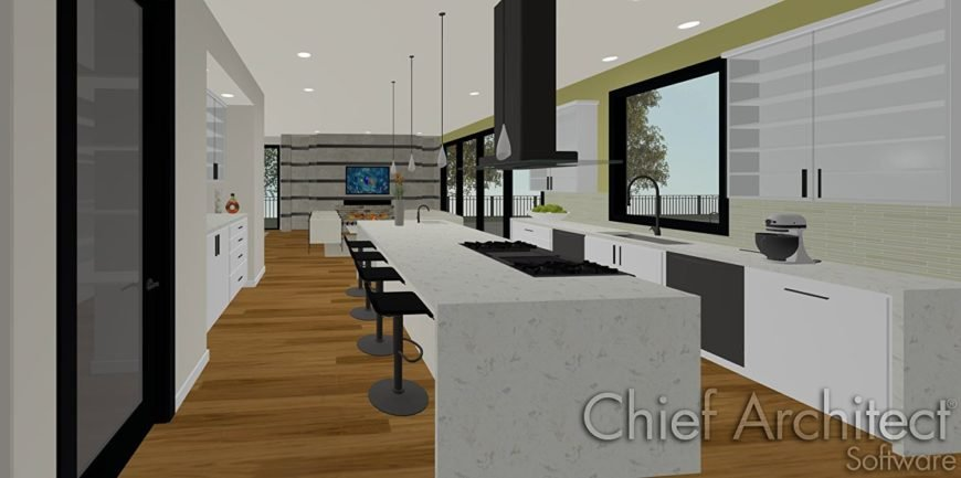 Example of kitchen design with Chief Architect Software