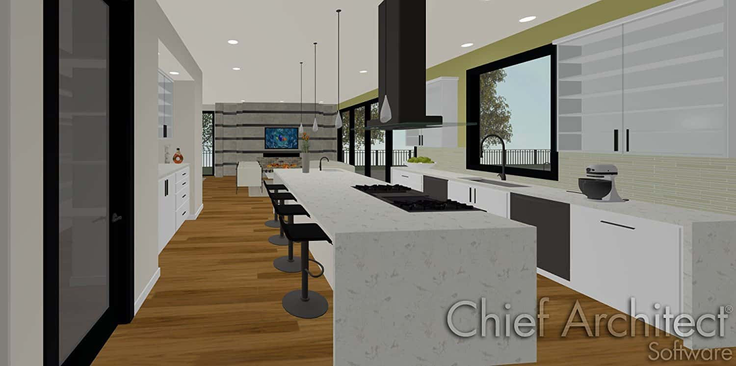 example of kitchen design with chief architect software - Chief Architect Interior Design
