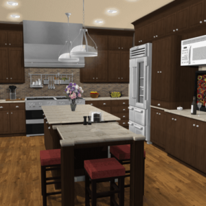 Example of kitchen design using Punch Kitchen Software