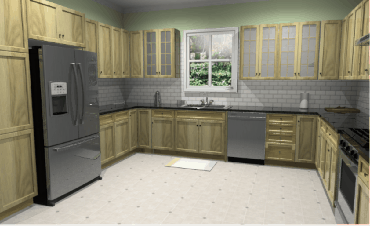 Example Of U Shape Kitchen Design With Lowes Virtual Kitchen Design Software