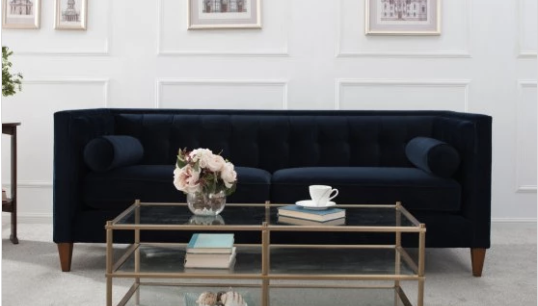 Example of a tuxedo sofa