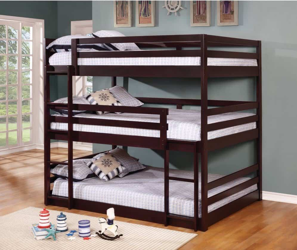 Advantages Of Utilizing Loft Beds For Kids Plans Triple decker full bunk bed.
