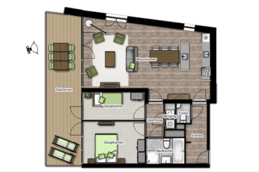 Home layout example from home planner software