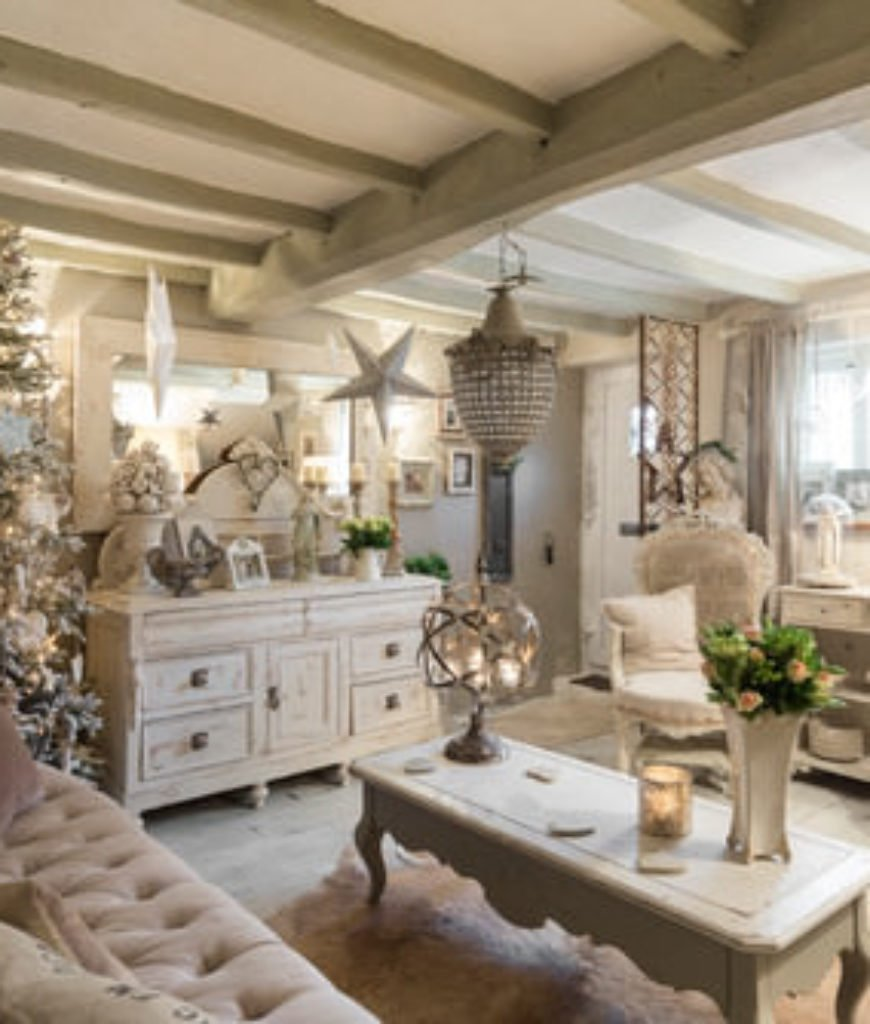 20 Cool Shabby-Chic Style Living Room Ideas for 2019